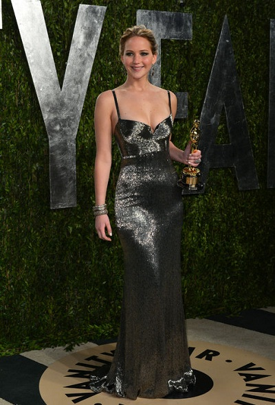 jennifer-lawrence-oscars-after-party-calvin-klein-dress